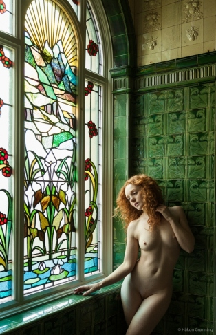 Beauty of stained glass - with Ivory Flame
