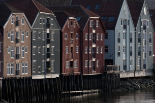 Trondheim piers by the river