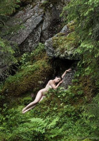 Sleeping wood nymph - with _Valentina_
