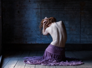 Spine and purple skirt