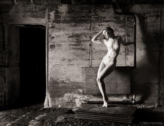 Lulu in WWII bunker - with Lulu Lockhart
