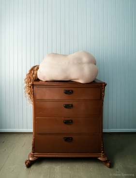 On top of the dresser - with Ivory Flame