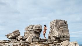 Between rocks front - with Mischkah