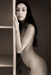 Nude in the cupboard