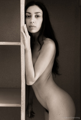 Nude in the cupboard - with Rebecca